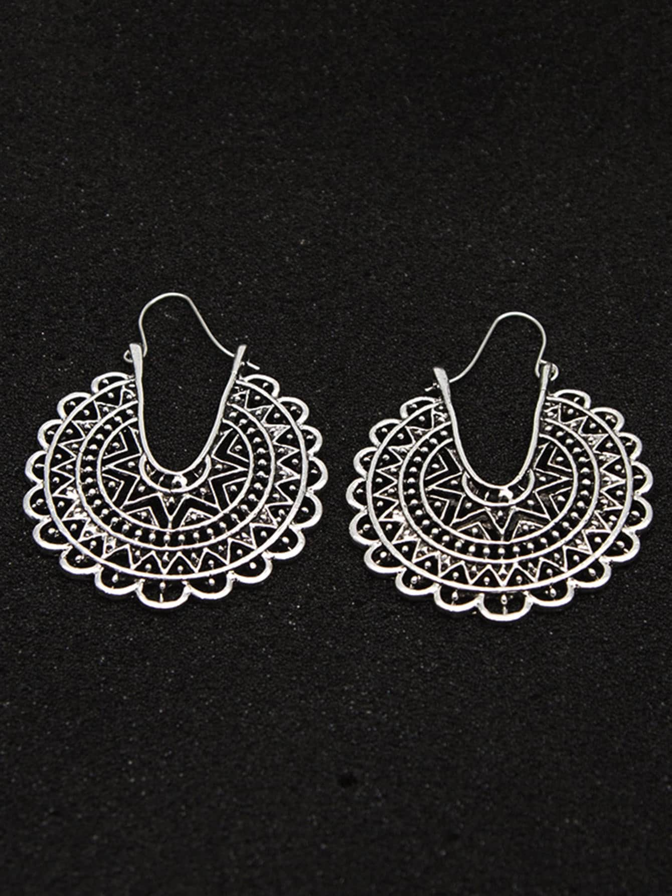 Hollow Out Statement Earrings 1pair