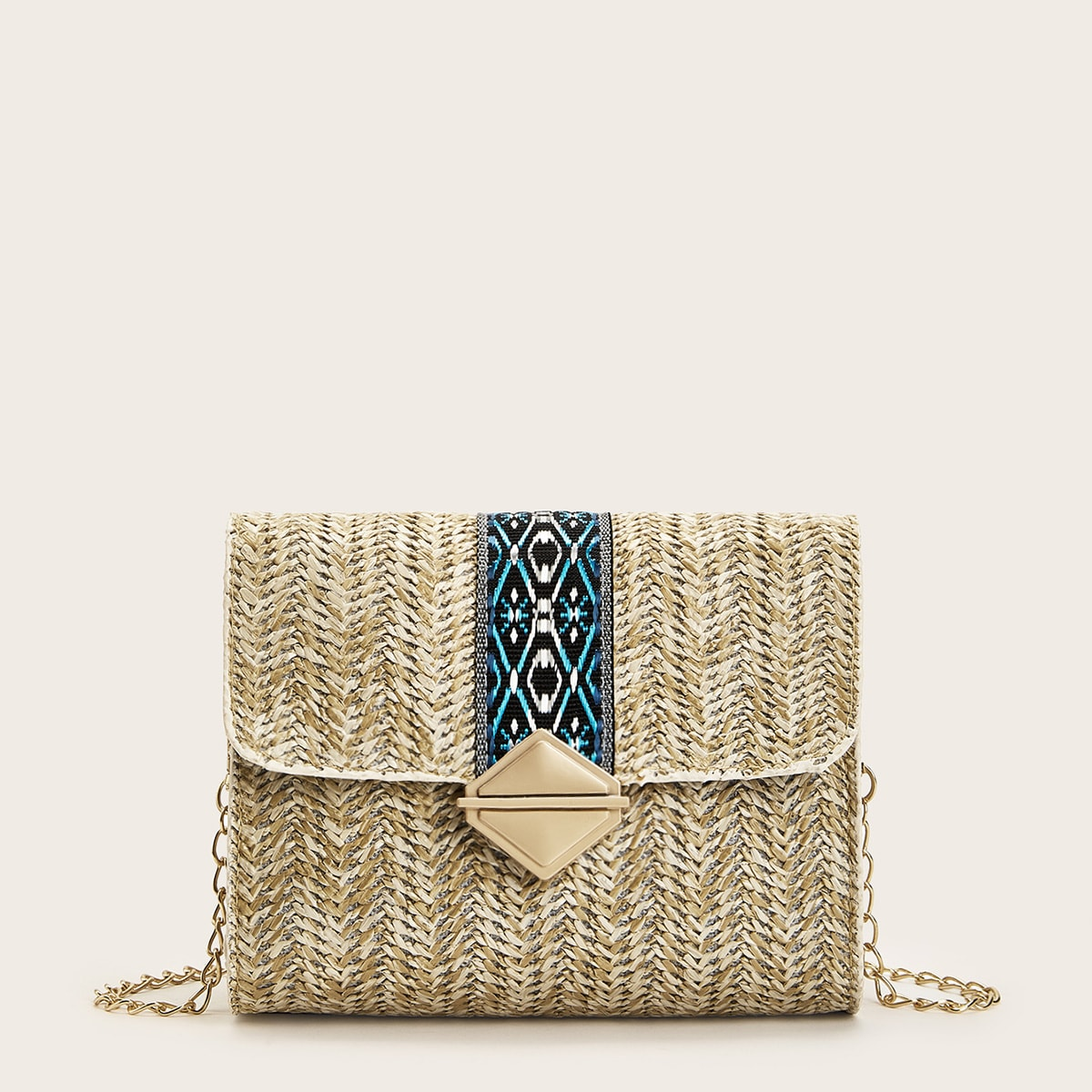 Chain Strap Flap Crossbody Bag