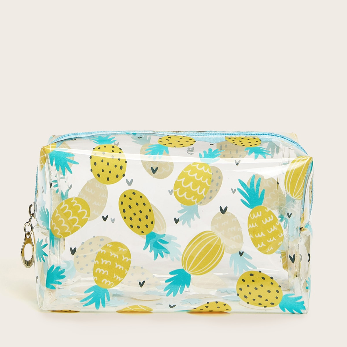 Pineapple Pattern Transparent Makeup Bag